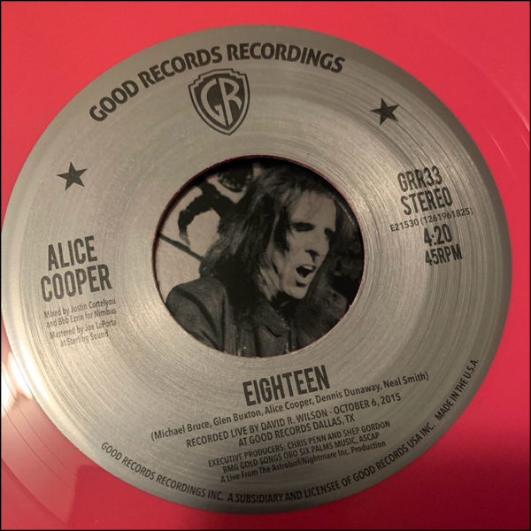 "Alice Cooper: Live From The Astroturf (7"")"